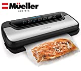 meat packing machine - Vacuum Sealer Machine By Mueller | Automatic Vacuum Air Sealing System For Food Preservation w/Starter Kit | Compact Design | Lab Tested | Dry & Moist Food Modes | Led Indicator Lights