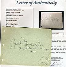 Rabbit Maranville Album Page Signed Authentic Autograph - JSA Certified - MLB Cut Signatures