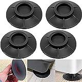 Viilich 4 Pezzi Ammortizzatore Vibrazione per Lavatrice,Piedini per lavatrice antivibrazione, Antivibrazioni Supporto per Piedini Anti-Camminata, Ammortizzatore Vibrazione per Lavatrice in Gomma
