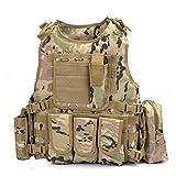 YAKEDA® Hinchas del ejército chaleco táctico Swat Cs campo táctico del ejército del chaleco del chaleco al aire libre Cs del juego del chaleco de Cosplay del juego Counter Strike Vest-322 (CP camuflaje)