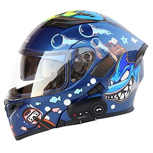 HGTRH Motorradhelm Mit Bluetooth...