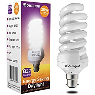 iBoutique® 30W Bayonet (B22) Daylight Energy Saving Light Bulb Equivalent Output 150 Watts (Full Spectrum) Great For SAD Sufferers, Snooker, Pool, Hobbies, Crafts, Photography:Firmwarerom