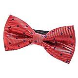 DonDon Pajarita para Hombre de lunares Punto color salmón rojo oxidado elegante con gancho con nudo y ajustable