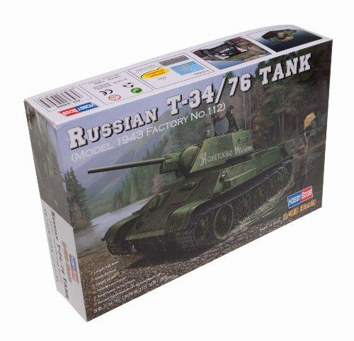 Hobby Boss 84808 - Modellino carro Armato Russo T-34/76 (1943 No.112), Scala 1:48