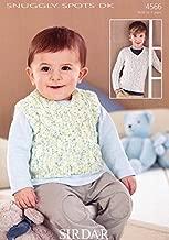Sirdar Baby Sweater & Tank Top Snuggly Spots Knitting Pattern 4566 DK
