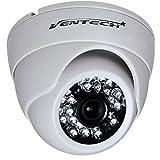 ventech Dome Security Camera Surveillance 2.0 megapixel AHD/TVI/CVI Mode and 1200tvl for Regular Analog Mode, 24 IR LED Day and Infrared IR Night Vision 12v Dome Camera Home ir Security cam