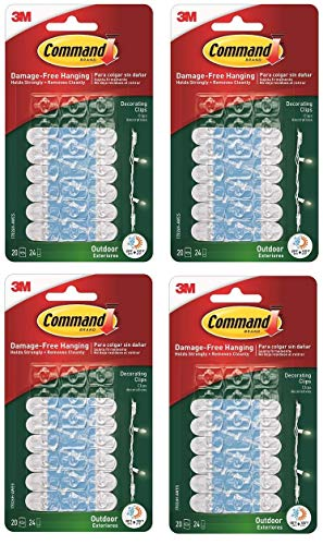 Price comparison product image 3M Command Outdoor Clear Decorating Clips Water Resistant - 80 Clips
