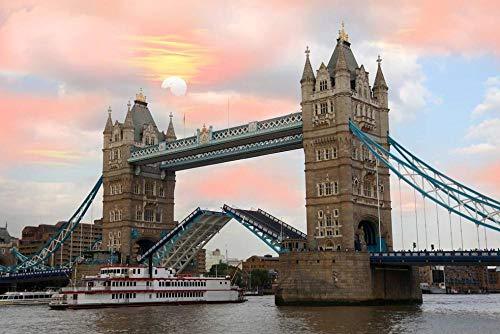 London Tower Bridge building Diy Pintura al óleo por números Kits Arte de la pared Imagen para colorear Sala de estar Decoración de la oficina Regalos