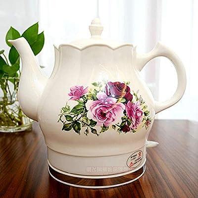 YT-1202Ceramic electric kettle porcelain kettle blue and white porcelain foam teapot daily kungfu teapot ceramic electric kettle-Army Green