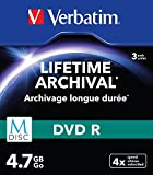 Verbatim 43826 M-DISC DVD-R 4x 3-pack Optical Media