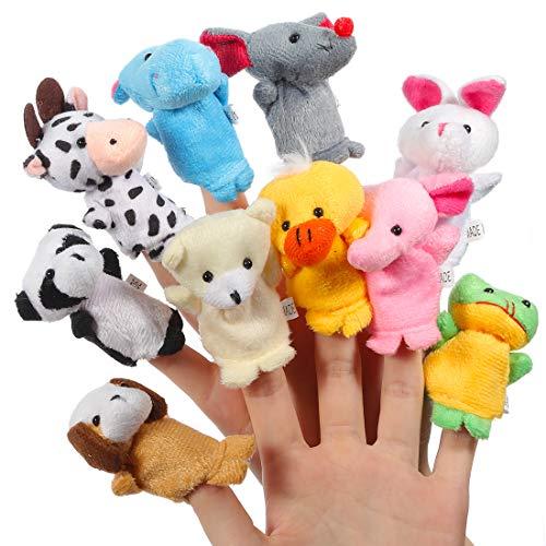 ThinkMax 10 Piezas Marionetas de Dedo Animales para Niños Bebe