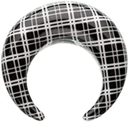 Covet Jewelry Classic Plaid Checker Acrylic Ear Gauge Spiral Taper