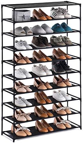 YOUDESURE 10 Tiers Shoe Rack Large Shoe Rack Organizer for 50 Pairs Space Saving Shoe Shelf product image