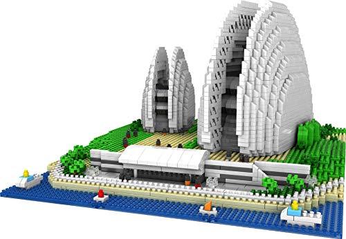 Exquisito Bloque de construcción Shell Opera House Nano Micro Bloques Juguetes de construcción,3965 + Pcs Nano Mini Blocks Juguetes de Bricolaje,Rompecabezas 3D Juguete Educativo de Bricolaje