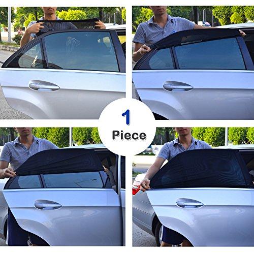 TFY Universal Baby-Sonnenblende für das Autoseitenfenster - schützt ihre Kinder vor Sonnenbrand - einlagiges Design -maximale Sicht - passt auf die meisten Autos, Jeep, Ford, Chevrolet, Buick, Audi, BMW, Honda, Mazda, Nissan und andere - 1 Stück