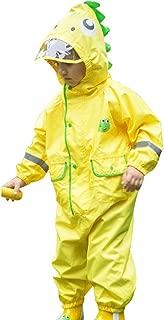 LHY- Raincoat S/M/L/XL Outdoor Children's one-Piece raincoat Boys and Girls Breathable rain Pants Poncho Convenient (Color : Yellow, Size : L)