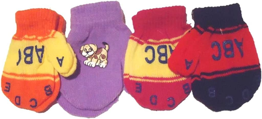 Set of OFFicial shop Four Pairs Multicolor One supreme Size for Mittens Magic Infants
