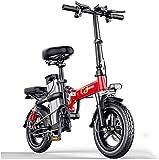 Bicicleta electrica, Bicicleta eléctrica eléctrica Bicicletas eléctricas 14 pulgadas Portátil plegable Motor sin escobillas de alta velocidad Tres modos de conducción con batería de litio de litio de