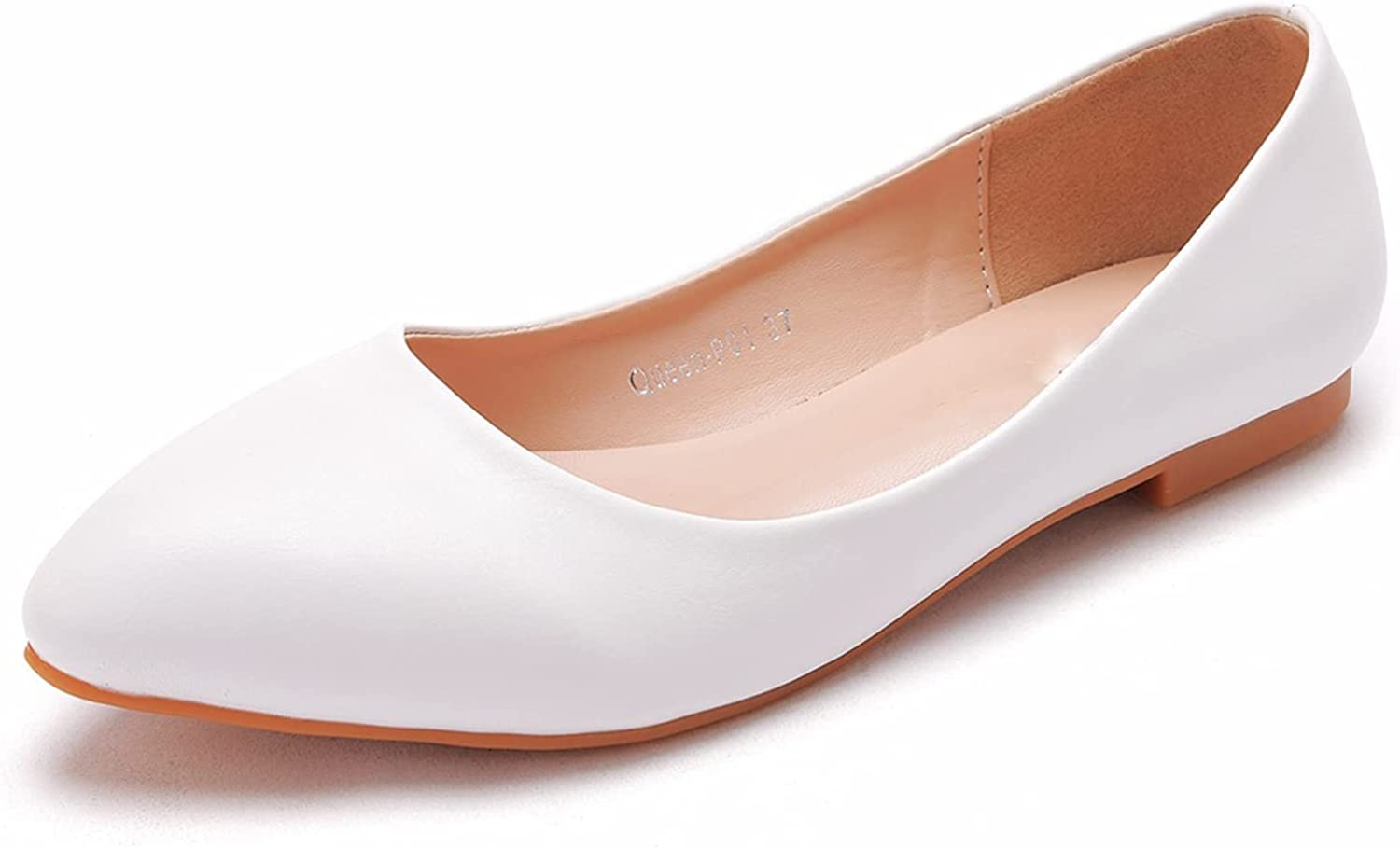 AORUIDA Womens Bridal At the price of surprise Shoes Pointed Elega Toe Ballet Flats Satin SEAL limited product