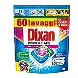 Dixan PowerCaps Multicolor, Detersivo Lavatrice Capsule, Ideale per capi colorati, 60 lavaggi - 900 g
