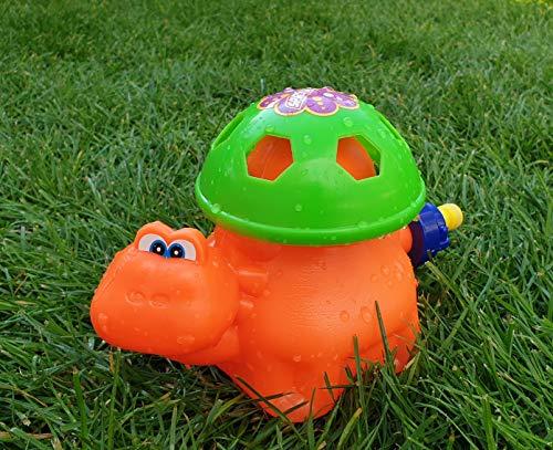 Wasserspielzeug für ganz großen Sprinkler Spaß Ihrer Kinder | Outdoor Spielzeug | Wasserspiel im Garten Spielzeug | Gartenspiele Waterplay Aqua Play | Kinderspielzeug draußen (Orange (Schildkröte))