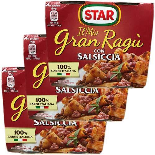3x Star Il mio Gran ragù 'Con Salsiccia', 2 x 180g