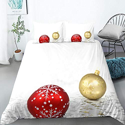 geek cook Duvet cover set,Digital printed Christmas four-piece bed double bed single duvet cover bed set-3_Four-piece 1.8m bed