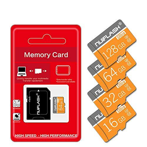 AZLMJXH SD-geheugenkaart, klasse 10 64 GB Micro SD-kaart 32 GB 16 8GB Mini TF-kaart Microsd Flash-kaart (met verpakking) -32 GB