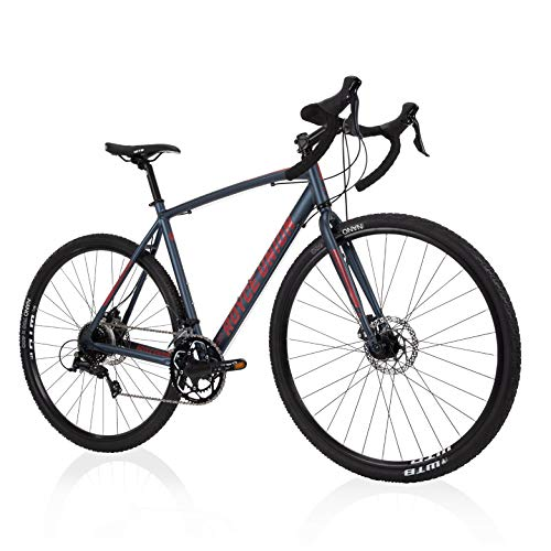 Royce Union Men's Gravel Bike Aluminum, 18 Speed, 700c Tires, Matte Denim Blue, RGF (76989)