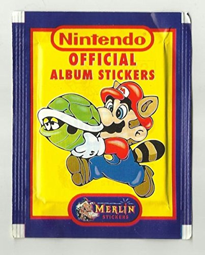 NINTENDO Official Album Stickers Merlin NES Official Sticker Collection 1992 (6 Aufkleber)