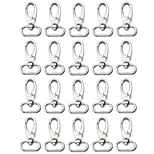 20 Stück Drehverschlüsse aus Zinklegierung für Schlüsselanhänger, Schlüsselanhänger, Hundeleine, Handtasche, Geldbörse, Hardware, Gurt, Rucksack