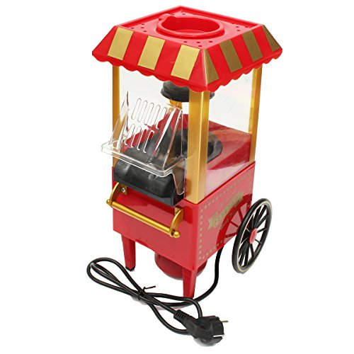 Great Price! Graven 220V EU Plug Intage Retro Electric Popcorn Maker Popper Machine Home Party Carnival Kitchen Appliance