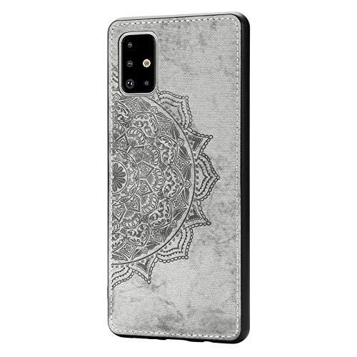 Lavender1 - Funda para Samsung Galaxy A71, diseño de mandala, estampado de flores, estampado de mariposa, resistente a los golpes, funda de silicona fina de 360 grados gris 42