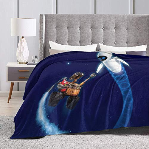 """Heavenly Battle Wall.E Supernatural Winter Ultra-Soft Micro Flano Bed Blankets Luxurious Cozy Printed Fluffy Plush Blanket for Couch Chair Living Room 50""""x40"""""""
