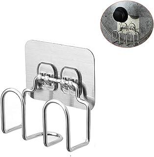 Soporte para tapa de olla – Tabla de cortar cuchillo organizador – Armario de acero inoxidable perforado montado en la pared para cocina, baño, sala de estar, juego de 2 (plata) Sticker plata