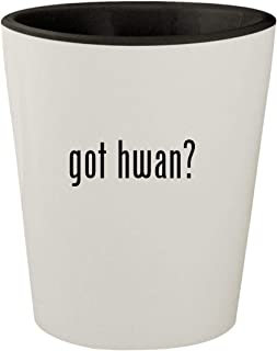 got hwan? - White Outer & Black Inner Ceramic 1.5oz Shot Glass