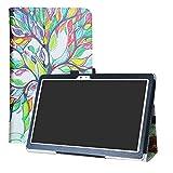 LFDZ Teclast T10 Funda, Soporte Cuero con Slim PU Funda Caso Case para 10.1' Teclast T10 / T20 4G Tablet,Love Tree