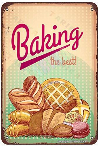 Cooking Best Pasticceria Cibo Pane Torta Vintage Look 20,5 cm x 30,5 cm Targa per la casa, la cucina, il bagno, la fattoria, il bar, la decorazione della parete divertente