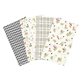 Trend Lab Woodsy Gnomes Flannel Burp Cloth Set, 4 Piece