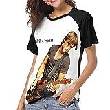 Ladies Ladies Baseball Short Sleeve Stylish Short Sleeve Music T-Shirt M Black