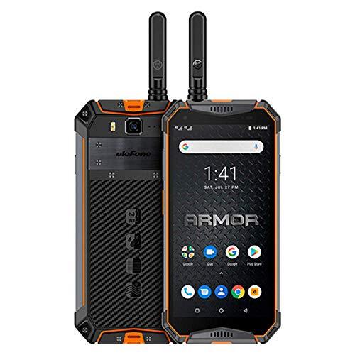 Ulefone Armor 3WT, 4G Móvil Antigolpes, Helio P70 Octa Core 6GB RAM 64GB ROM, Android 9.0 Pie - Impermeable Moviles Todoterreno - Dual SIM, 10300mAh Batería - Desbloqueo Facial - Color Naranja