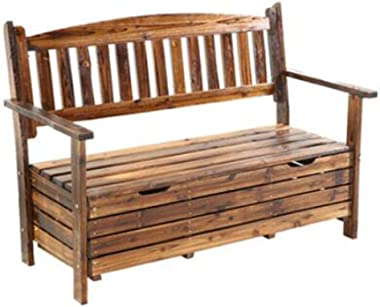 Storage Chests Wooden Garden Locker Chair with Locker Garden Tool Box Chair Garden Box Park Bench One Thing Dual Purpose (Col