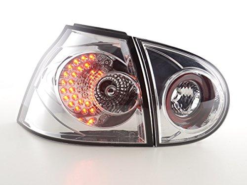 FK Automotive FKRLXLVW13501 LED Feux Arrière, Chromé