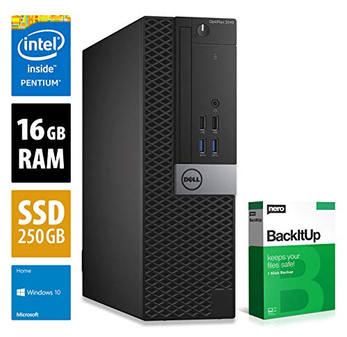 Dell OptiPlex 3040 SFF - Pentium G4400 @ 3,3 GHz - 16GB RAM - 250GB SSD - Win10Home (Zertifiziert und Generalüberholt)