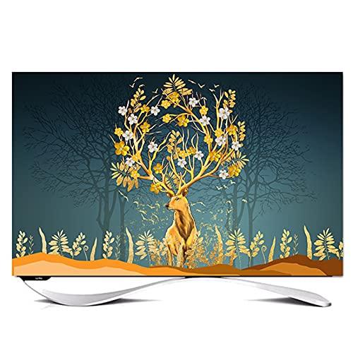 SWEAR Funda TV Exterior TV Funda para Exteriores TV Cubierta TV Paño A Prueba de Polvo Desktop TV Chino Decorativo TV Cubierta de Polvo Cubierta Protectora(Size:49-52in/W118cmxH70cm)