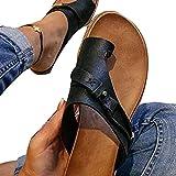 illuMMW Orthotics - Sandalias de corrección para mujer, tejido de PVC, puntera abierta, tacón plano, chanclas para verano, informales, para la playa