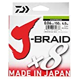 Daiwa J-Braid 8 Braid 0.06mm, 4,0kg/9,0lbs 150m multicolour
