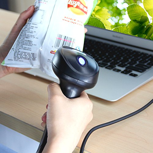 Esky Wired Handheld USB Automatic Laser Barcode Scanner Reader with USB Cable (Black) Photo #7