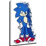 Póster de la habitación de la chica del erizo de Sonic de Juvenile con diseño de Doodle para la pared para imprimir, enmarcado de 30,5 x 45,7 cm