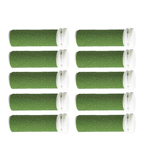 Foot Solutions Super Coarse Emjoi Micro-Pedi Refills Rollers Compatible with Emjoi Micro-Pedi Callus Remover (10 Pack Green)